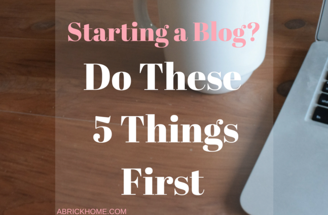 Must-do's if you're starting a blog! Make sure to read.