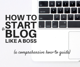 How to start a blog like a boss