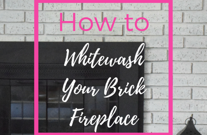 How to Whitewash your brick fireplace in a few easy steps