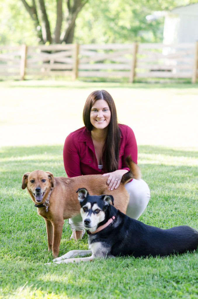 Marly with dogs