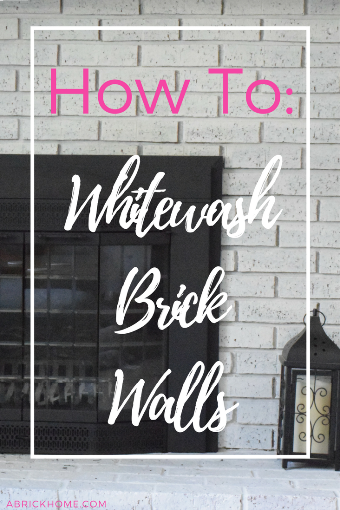 How to Whitewash Your Brick Walls