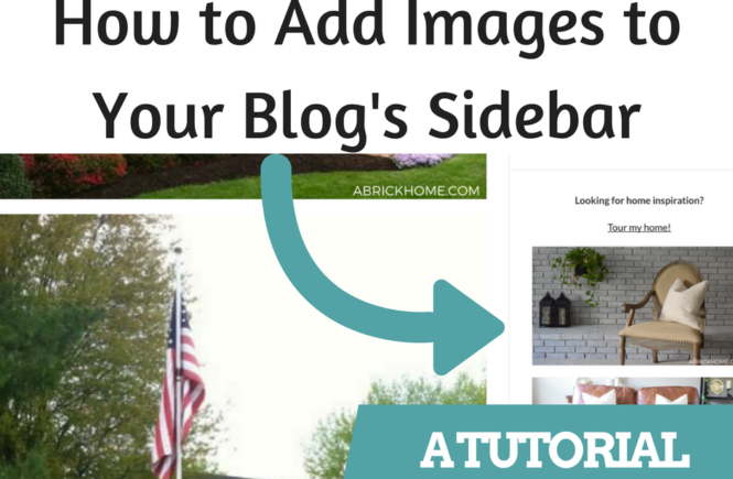 How to Add Images to Your Blog's Sidebar