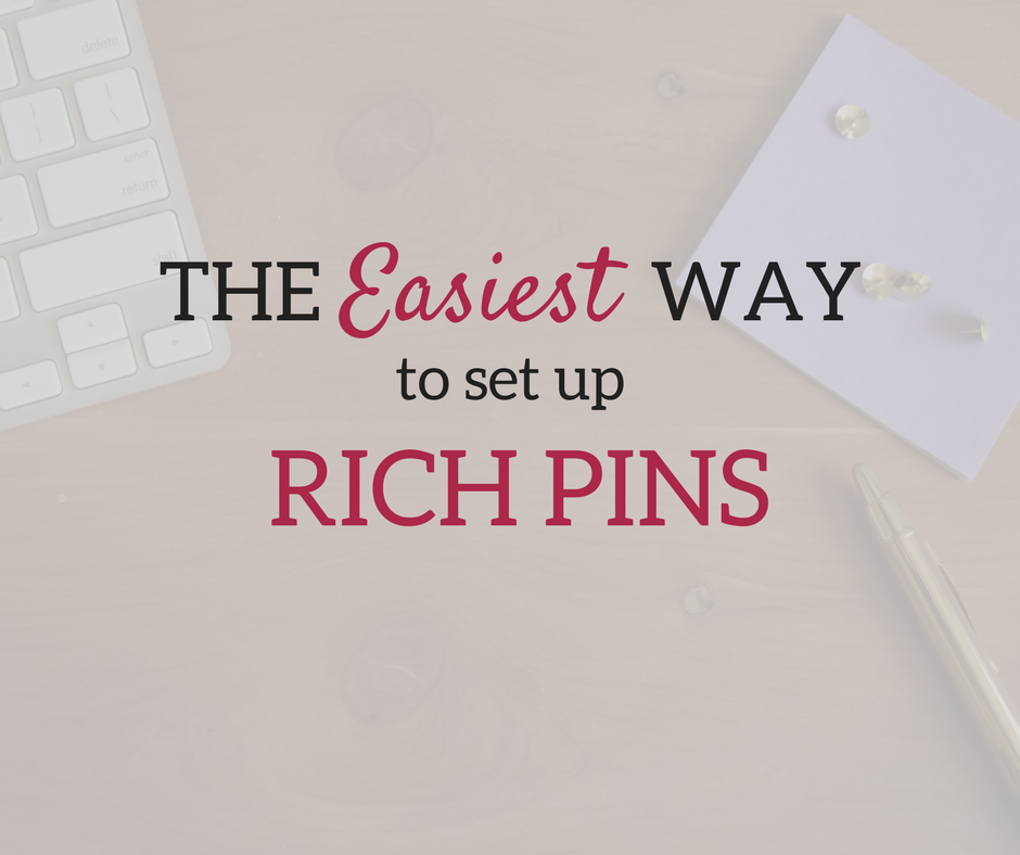 How to Make Rich Pins on Pinterest