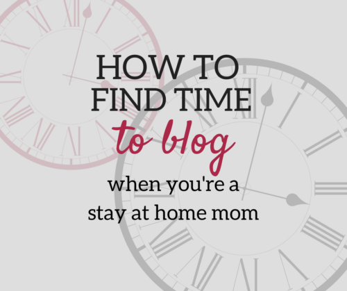 A Brick Home: Blogging schedule when you're a stay at home mom