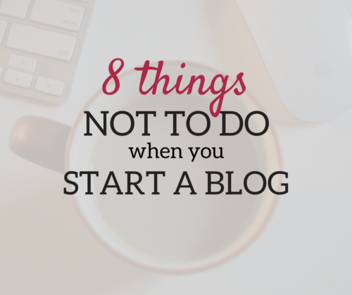 A Brick Home: Here's what NOT TO DO when you start a blog