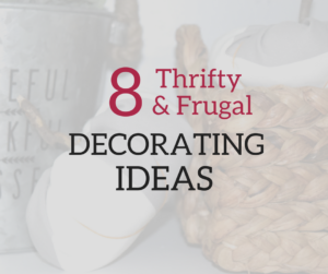 A Brick Home: frugal decorating ideas, decorating ideas for the home, budget decorating ideas, thrifting