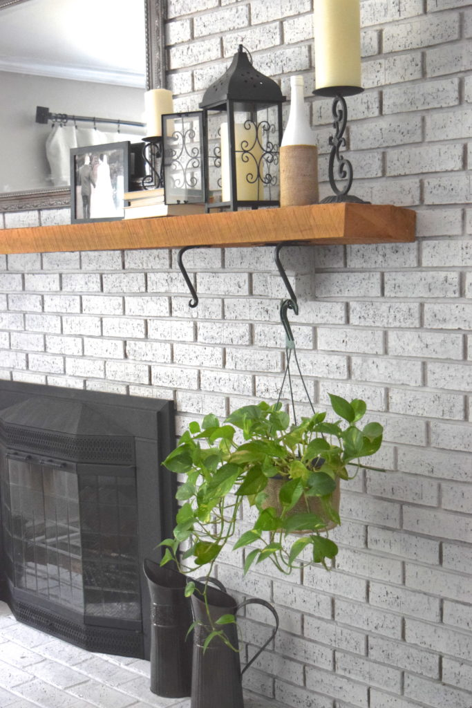 Budget-friendly fireplace mantle decor | A Brick Home