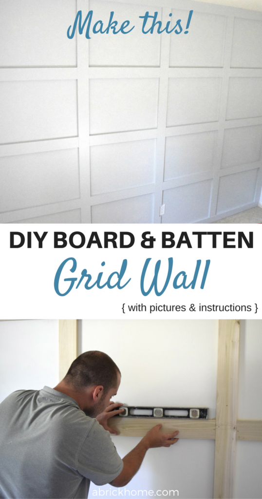 The Easy Way to Make a Board and Batten Grid Wall