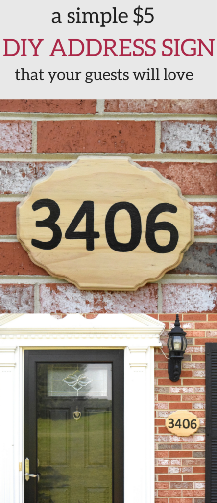 A Brick Home: DIY Address Sign | DIY Address Plaque | home address signs | home address sign diy | address sign ideas