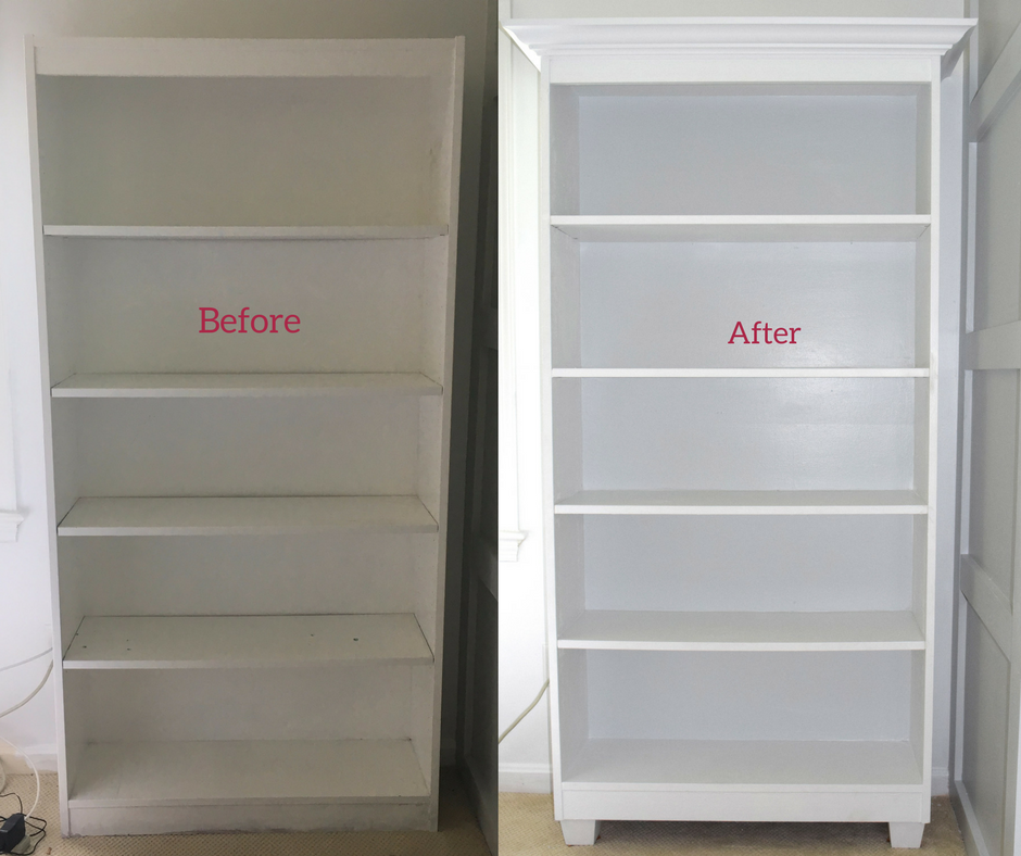 Cheap Bookcase Makeover that Doesn't Look Cheap