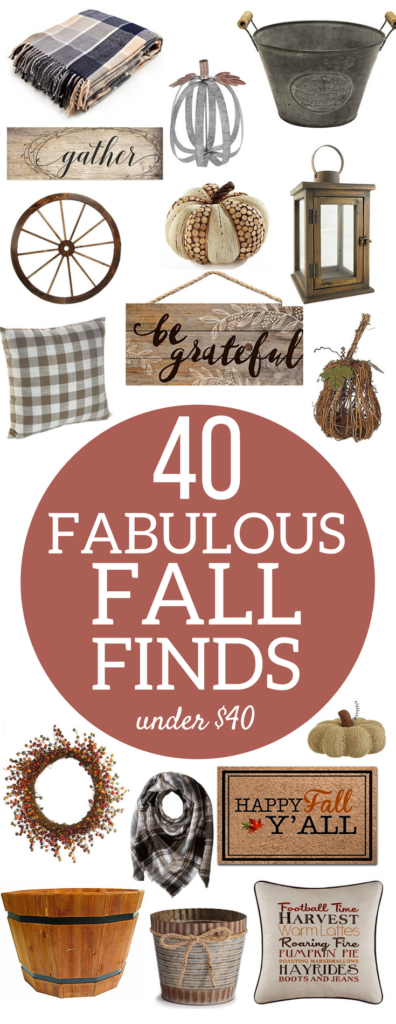 A Brick Home: Fall Finds Under $40, Rustic Farmhouse Fall Home Decor | Budget-friendly fall home ideas | Fall decorations