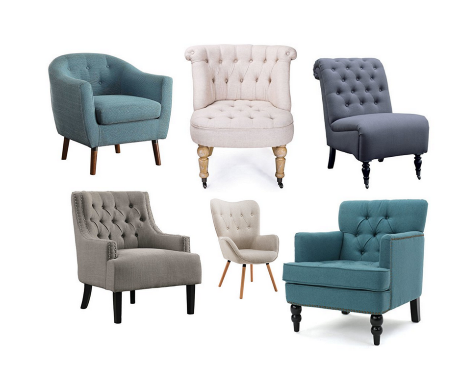 Living Room Accent Chairs that are Tufted