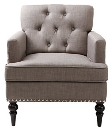 Finnkarelia Grey Accent Chair for Living Room Contemporary Arm Club Chair
