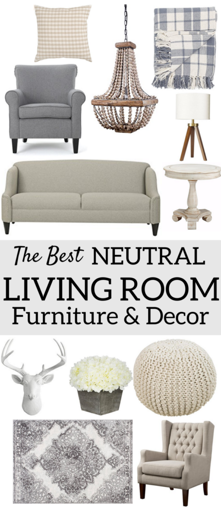 The best neutral living room furniture decor a brick home for Neutral home decor ideas