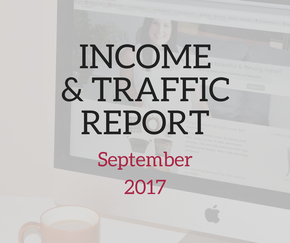 Income and Traffic Report – September 2017