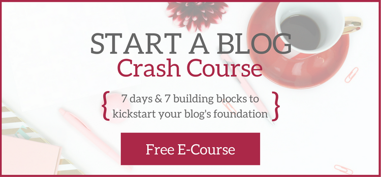 A Brick Home: Start a Blog Crash Course