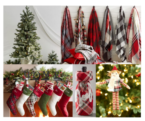 A Brick Home: Timeless Christmas Decor from Pottery Barn, classic christmas decor, timeless Christmas decorations, red white and green Christmas
