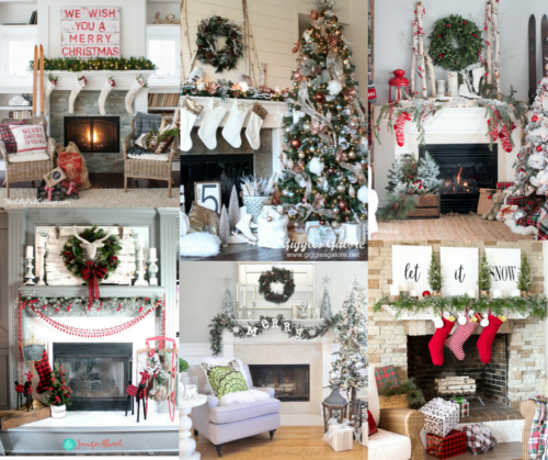 A Brick Home: Christmas Mantel Ideas, DIY Christmas mantel ideas, rustic Christmas mantels, modern Christmas mantels, holiday decorating,Christmas mantel ideas fire places, Christmas decorations, Christmas decorations for the home