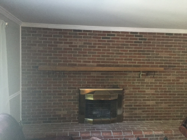 How To Whitewash Your Brick Fireplace A Brick Home