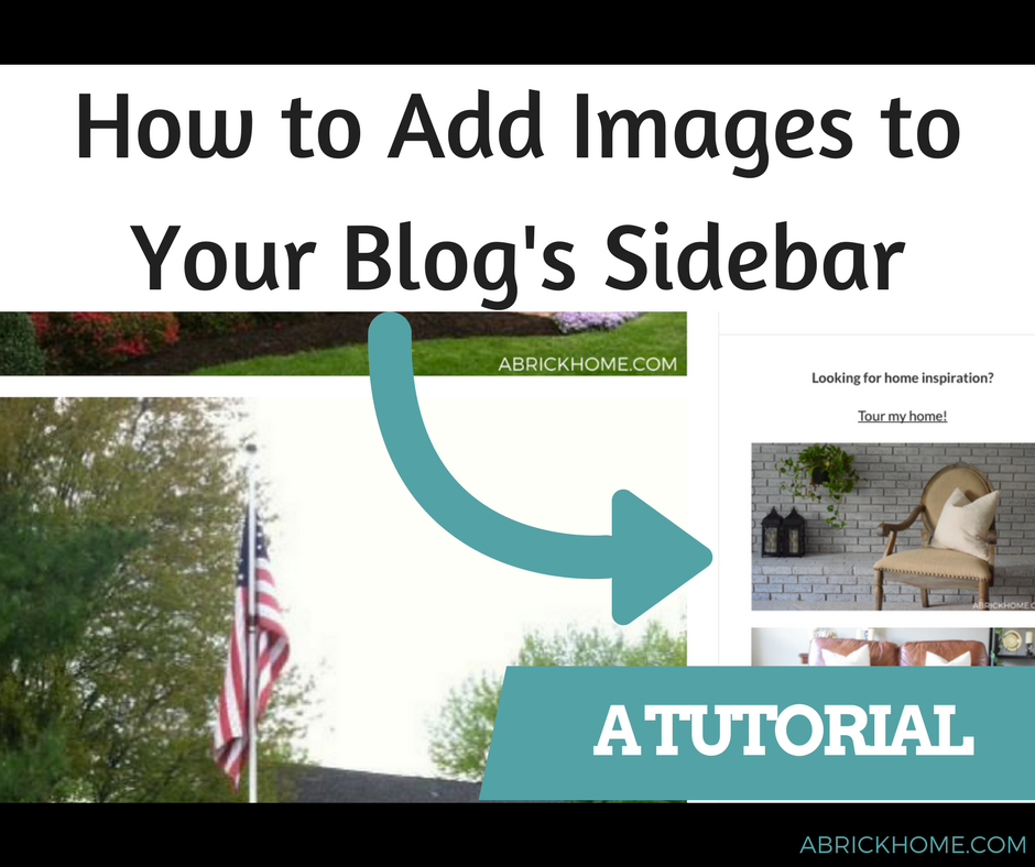 Tutorial how to add images to your wordpress sidebar for How to add onto your house