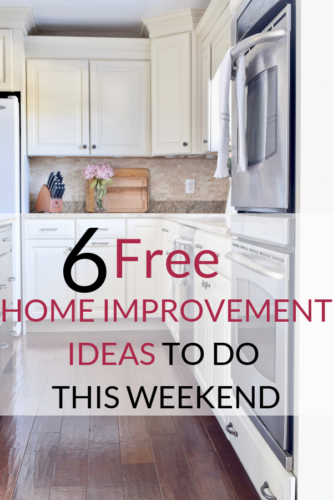 Free Home Improvement Ideas That Anyone Can Do Outlined Are 6 Ways To Improve Your