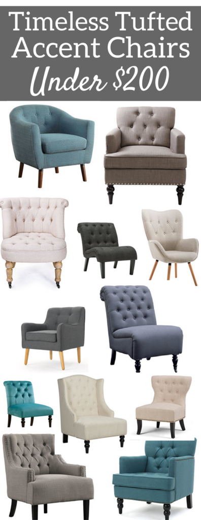A Brick Home Living Room Accent Chairs Timeless Tufted Under 200