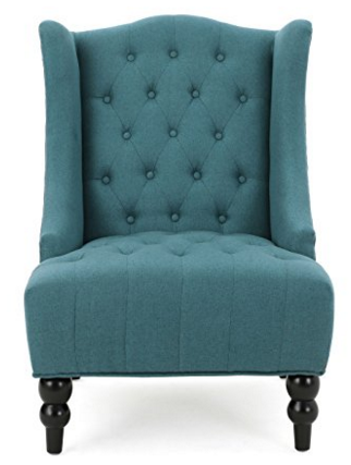 Simpli Home Kitchener Tufted Accent Chair Charcoal Grey