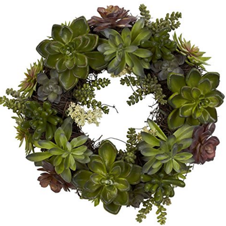 A Brick Home: Wreaths For Front Door, Wreath Ideas, Green Wreath Decor,