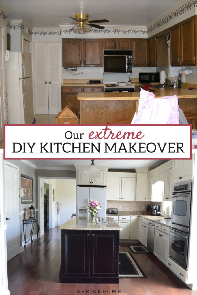 Our Extreme DIY Kitchen Makeover • A Brick Home