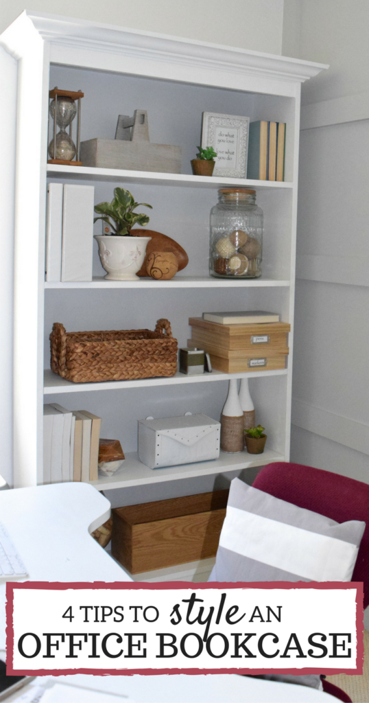 A Brick Home: How To Style An Office Bookcase, Office Bookcase Decor, Office