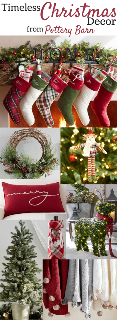 a brick home timeless christmas decor from pottery barn classic christmas decor timeless
