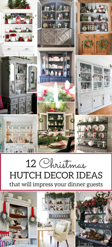 12 Christmas Hutch Decor Ideas That Will Impress Your Dinner