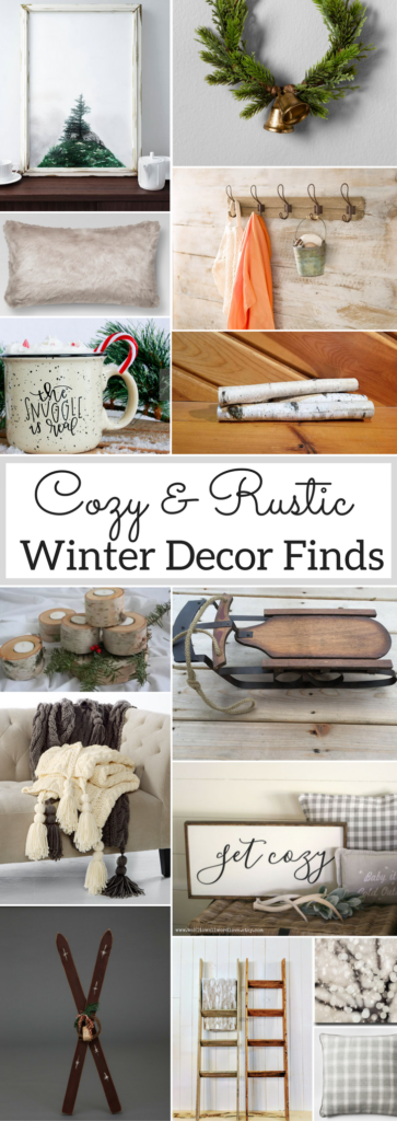 rustic winter decor finds for after christmas a brick home