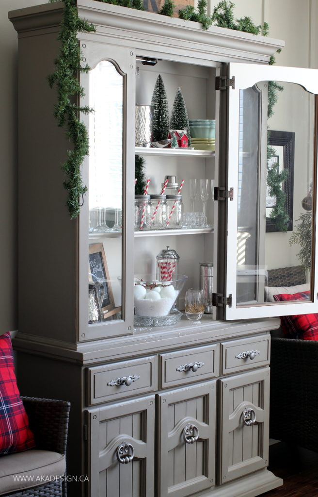 A Brick Home: Christmas Hutch Decor Ideas, Christmas Hutch China Cabinet,  Christmas Hutch