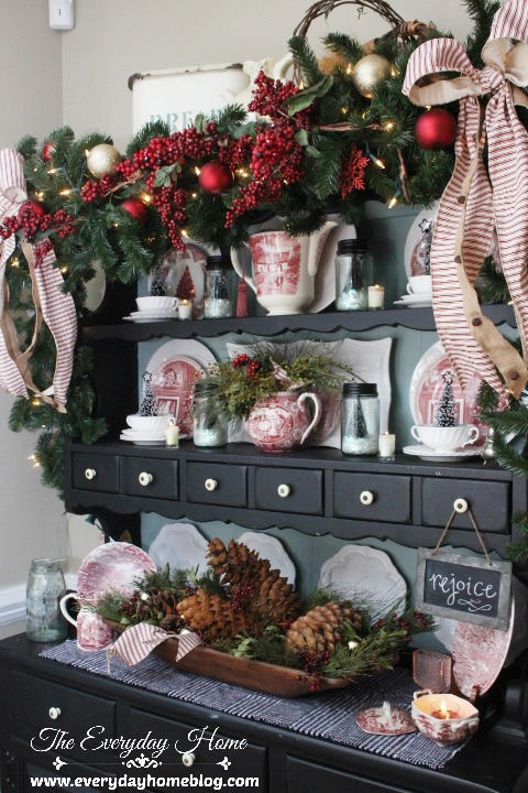 Pleasant 12 Christmas Hutch Decor Ideas That Will Impress Your Dinner Complete Home Design Collection Barbaintelli Responsecom