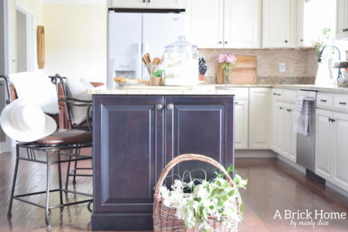 home kitchen decor. A Brick Home  spring kitchen decor countertops Fresh Cheerful Spring Kitchen Tour