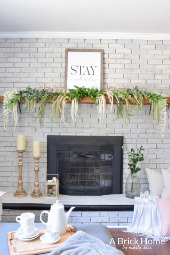 18 Spring Mantel Decorating Ideas You Ll Want To Copy A Brick Home