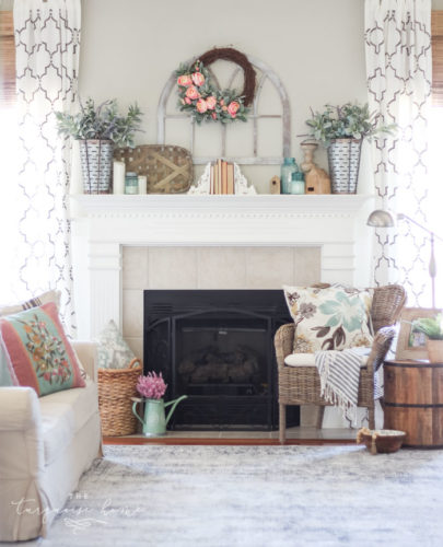 18 Spring Decor Ideas: 18 Spring Mantel Decorating Ideas You'll Want To Copy • A