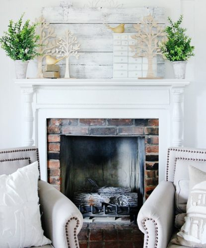 Entry Photo Credit Inspire Me Home Decor On Instagram: 18 Spring Mantel Decorating Ideas You'll Want To Copy • A