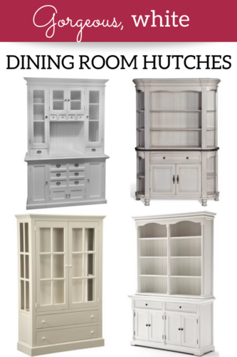 275 & Gorgeous White Dining Room Hutches - A Brick Home by Marly Dice