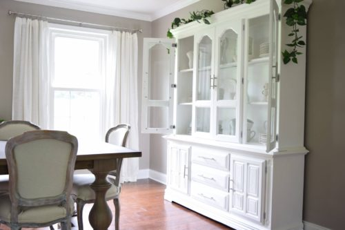 Gorgeous White Dining Room Hutches