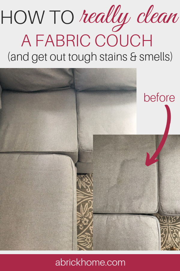 How To Really Clean A Fabric Couch