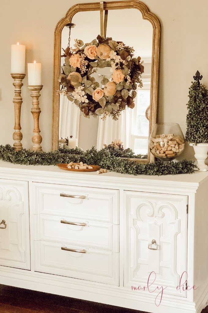 French Farmhouse Fall Decor On My Buffet A Brick Home By