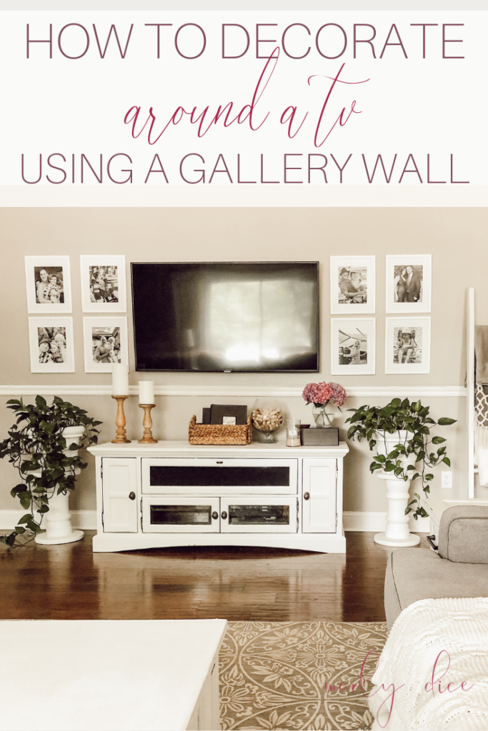 How To Decorate Around A Tv Using Gallery Wall Brick